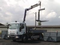 IVECO 120E22 - nosič kontejnerů s hydraulickou rukou, všestranný automobil pro stavebnictví, zemní práce atd.